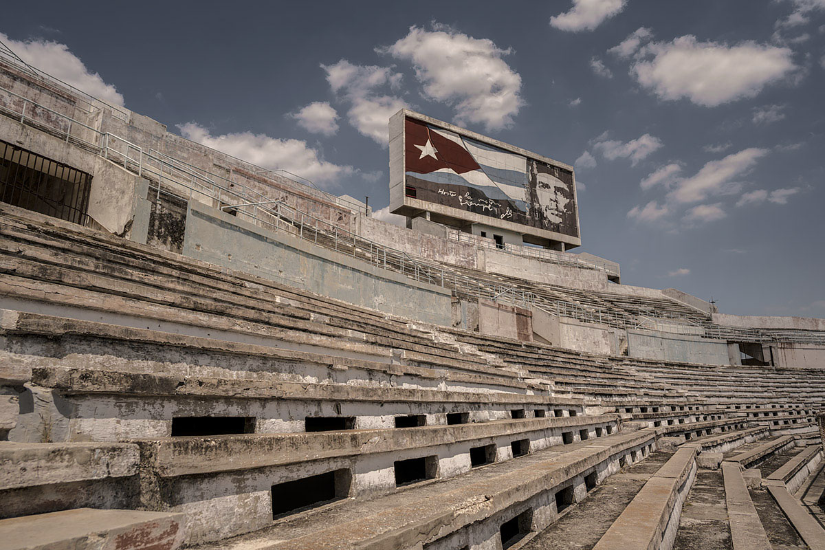 olympic spirit #38, cuba, 2017 (stadium built for the pan america games in 1991. Cuba won 265 medals. havanna tried to host the olympics twice but never got the bid)