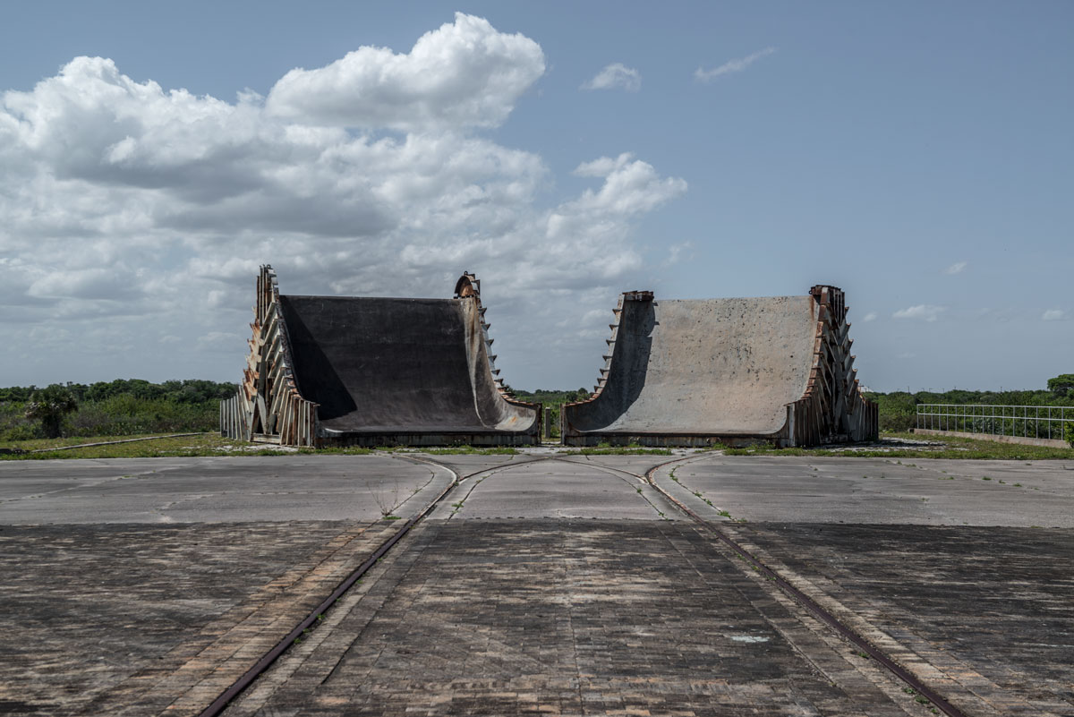 space junk #8, usa, 2016 (flame deflectors at launch complex 34 at cape canaveral used for the apollo space program and site of apollo 1 fire)