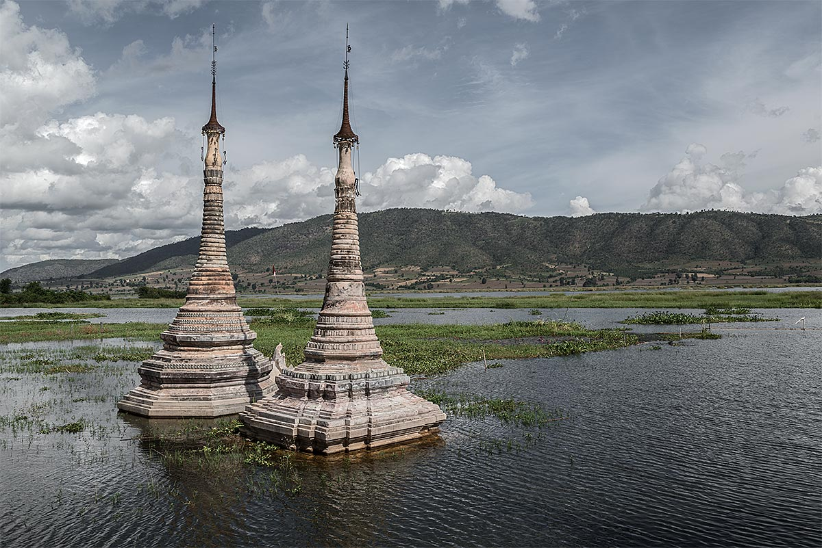 faithless #15, burma, 2012 (flooded temple in burma's first hydroelectric project)