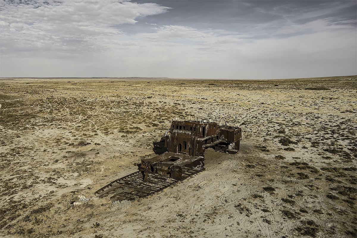 stranded #29, kazachstan, 2015 (the aral sea shrinked to 10% of its size after the rivers that fed it were diverted by soviet irrigation projects)
