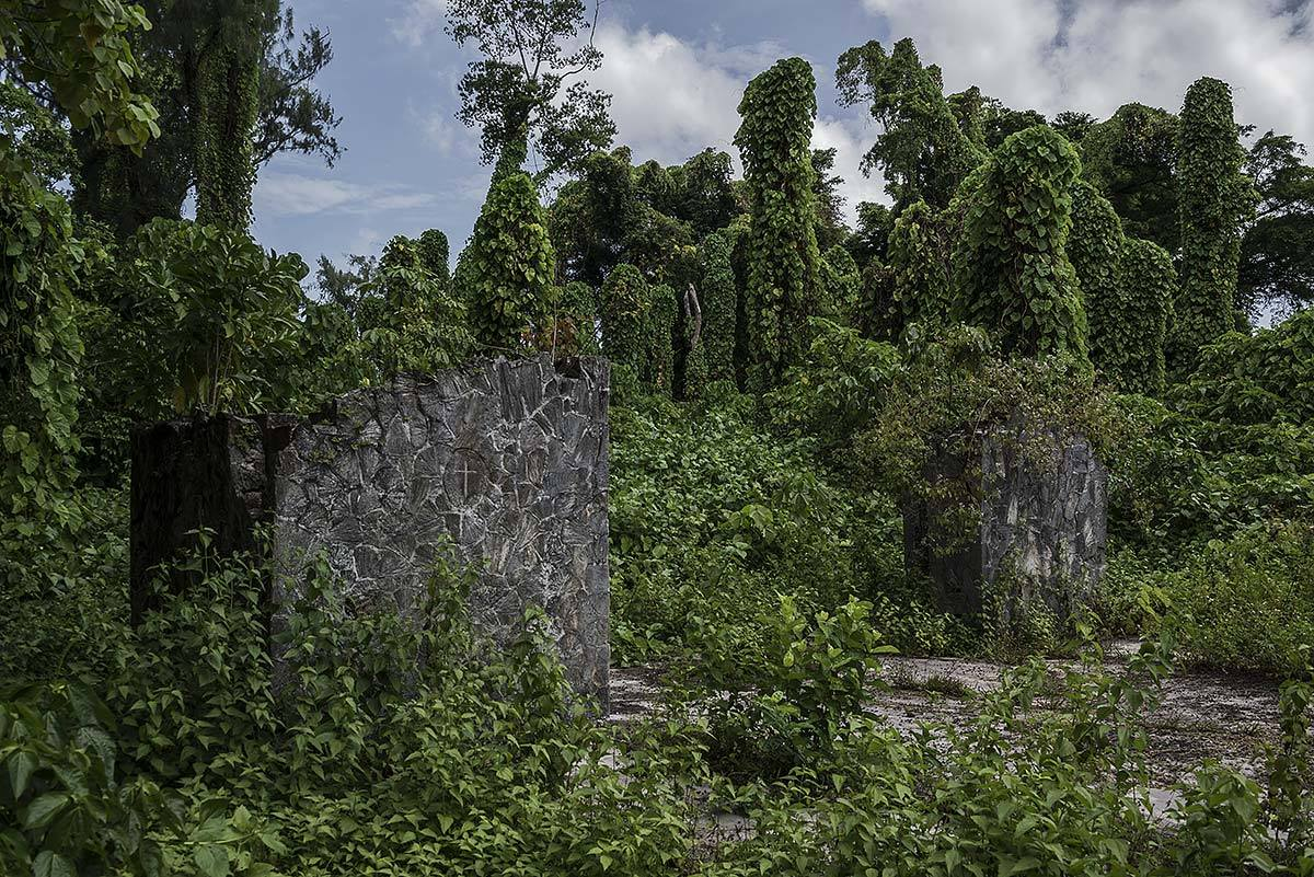 faithless #55, palau, 2015 (chapel of the USA war cemetery on peleliu island where 1500 US soldiers were buried. In the 50s it was decided to move them back 'home')