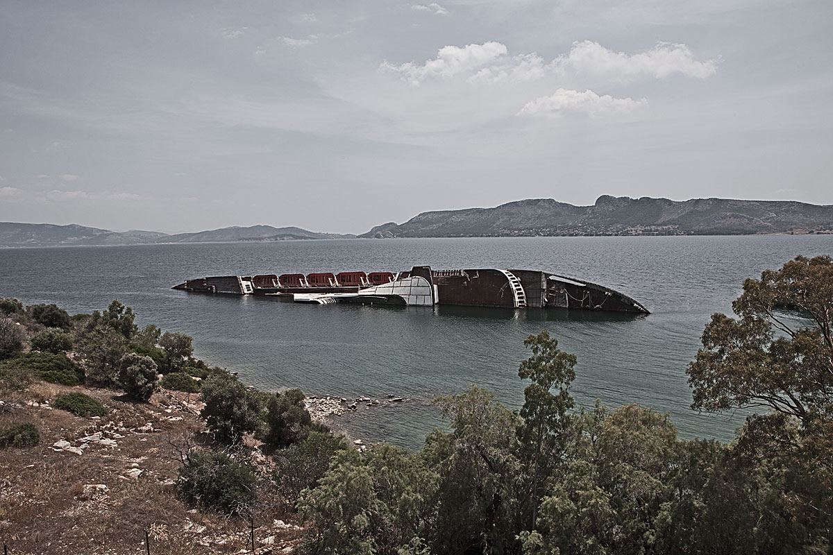 stranded #7, greece, 2011 (ms mediterranean sky capsized and sank in 2003)