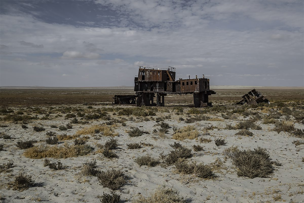 stranded #29.1, kazachstan, 2015 (the aral sea shrinked to 10% of its size after the rivers that fed it were diverted by soviet irrigation projects)