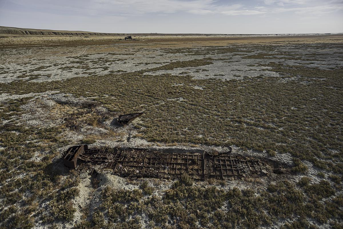 stranded #33, kazachstan, 2015 (the aral sea shrinked to 10% of its size after the rivers that fed it were diverted by soviet irrigation projects)