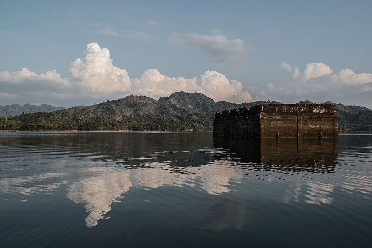 wat-to-watt, faithless #16, thailand, 2013 (400y wat wang wiwekaram now flooded by the 720 megawatts srinakarin dam)