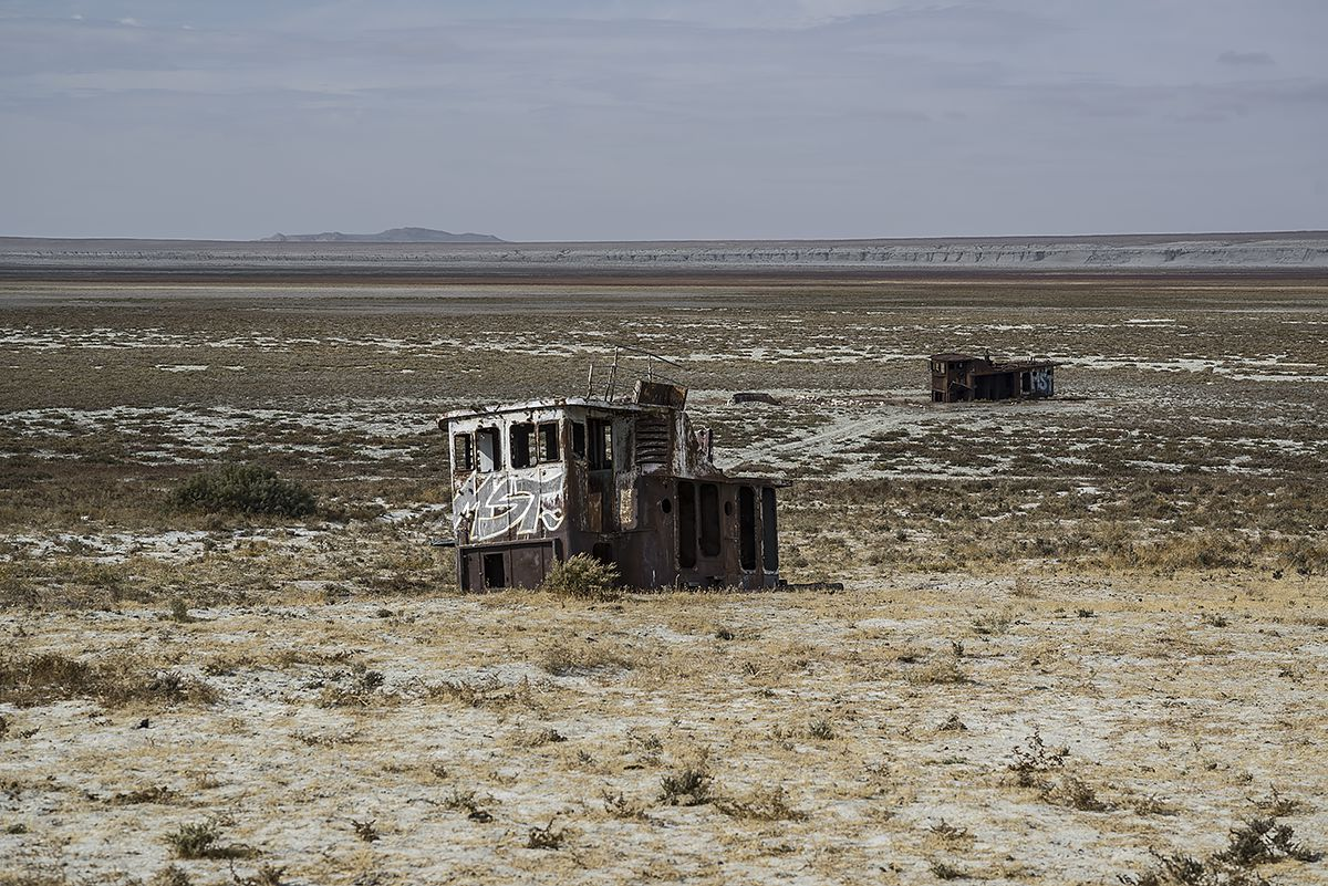 stranded #30, kazachstan, 2015 (the aral sea shrinked to 10% of its size after the rivers that fed it were diverted by soviet irrigation projects)